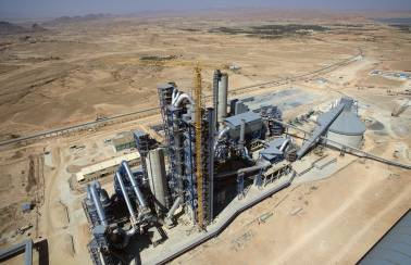 Inaugurating a state-of-the-art CILAS cement plant in Biskra, Algeria