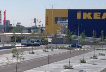 Not a DIY project: a top of the line parking lot for IKEA Spain