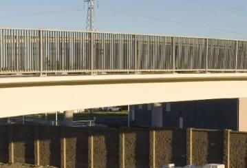 A footbridge made of ductile concrete