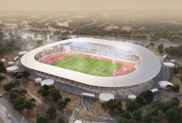 The first Olympic stadium in Ivory Coast